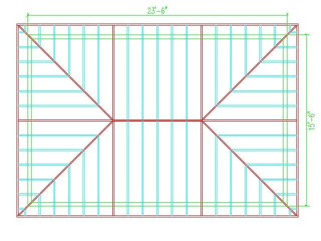 Hip Roof Calculator Roof Framing Hip Roof Design Hip Roof