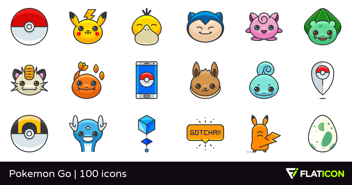 100 Free Vector Icons Of Pokemon Go Designed By Roundicons Freebies Pokemon Pokemon Project Pokemon Stickers