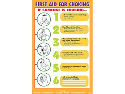 image about Free Printable Choking Poster identified as No cost Choking Posters On line Initially Assistance Choking Stability