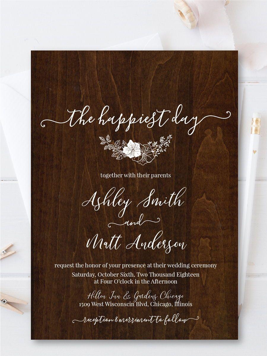 100 editable wedding invitation suite casual wedding invitation