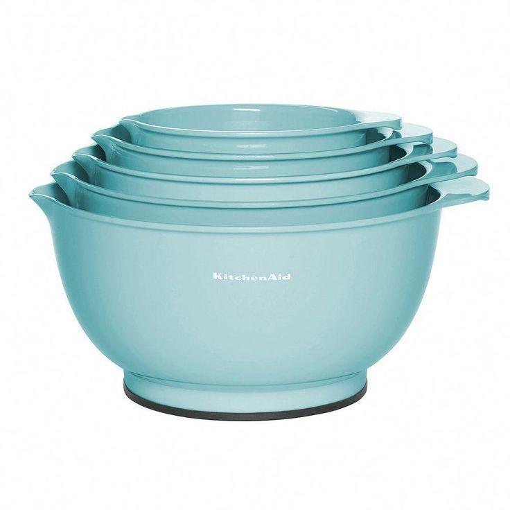 KitchenAid Aqua Sky 5-tlg. Rührschüsselset, türkis / blau (türkis / aqua) ...,  KitchenAid Aqua Sky 5-tlg. Rührschüsselset, türkis / blau (türkis / aqua) ...,