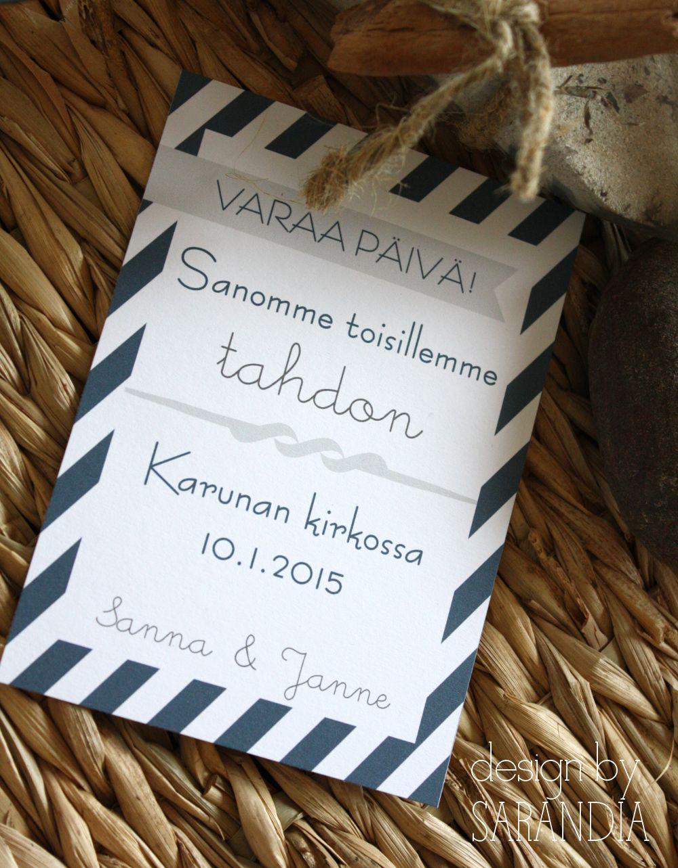 Varaa päivä -kortti Tulosta itse! -mallisto www.sarandia.fi