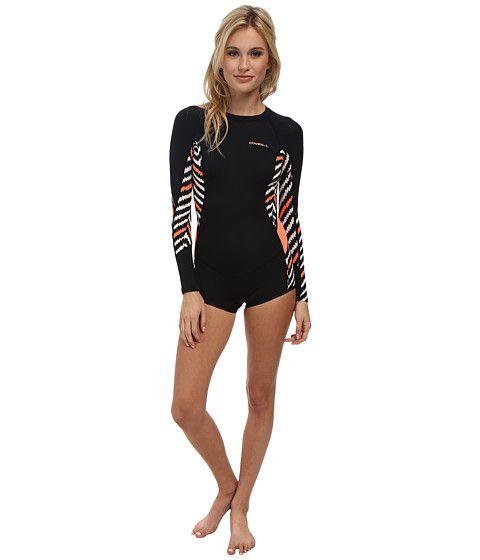 51a7b0e4a3 O Neill Skins Long Sleeve Surf Suit Black Zag Papaya - Zappos.com Free  Shipping BOTH Ways