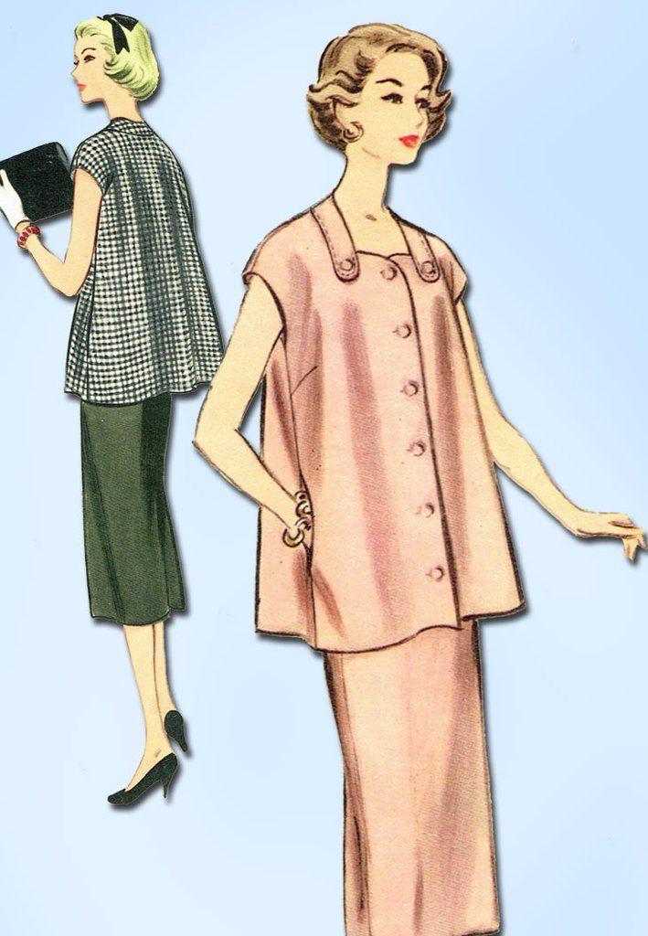 1950s Vintage McCalls Sewing Pattern 3133 Uncut Misses Maternity ...