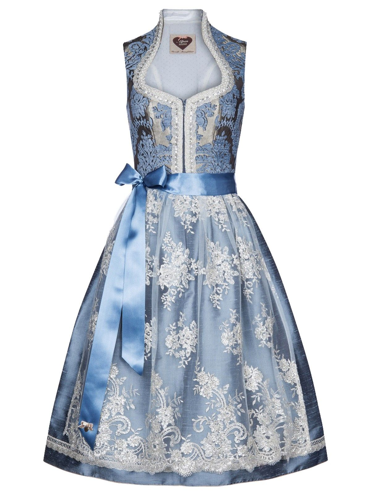 Alpenherz Hochzeits Dirndl In Blau Viktoria Hellblau Limberry De Alpenherz Dirndl Dirndl Braut Dirndl