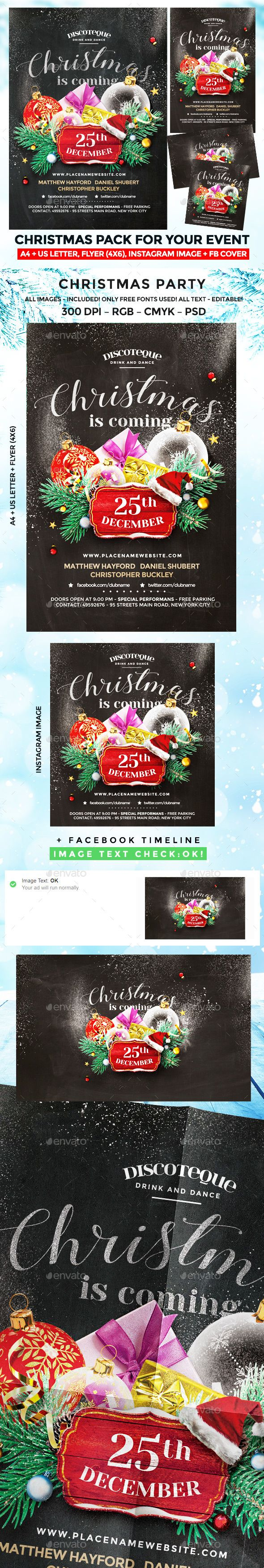 Christmas Party  Christmas Flyer Party Flyer And Christmas Poster
