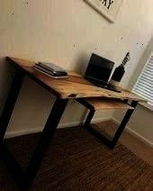 tables are pretty on trend right now and Im feeling  Indus Hi Hometalk Live edge tables are pretty on trend right now and Im feeling  Industrial desk  Hi Hometalk Live ed...