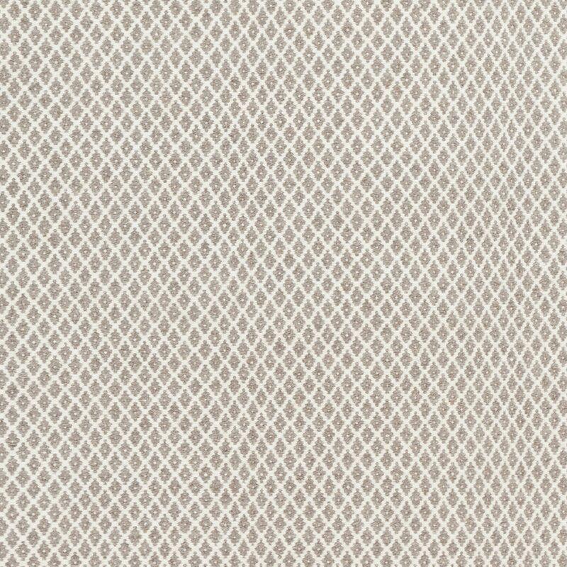 Somerville Geometric Handwoven Flatweave Wool Taupe Cream