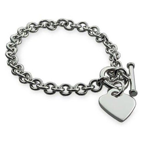Take This Clic Tiffany Style Silver Heart Tag Bracelet And Make It Your Own By Having Engraved
