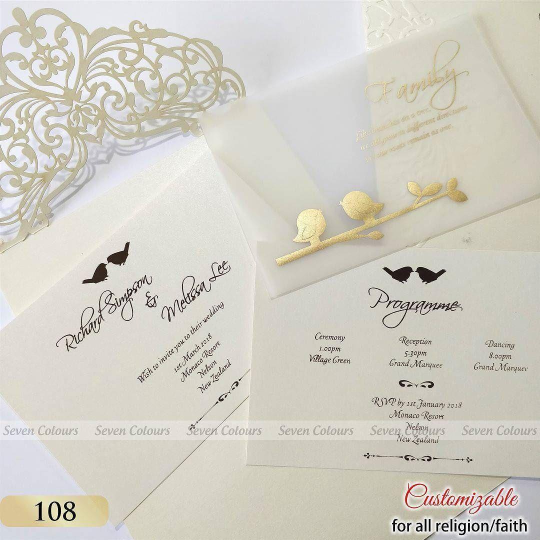 Love Birds Theme Lasercut Weddingcards Weddinginvitation