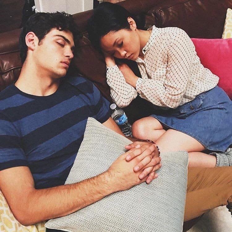 Sleeping On Set Lara Jean Love Movie Lana Condor