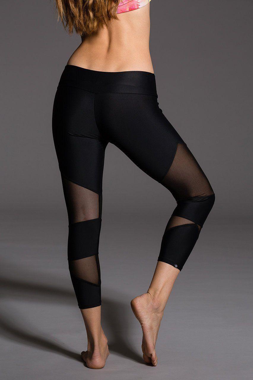 b347807175e70 ONZIE Cut Out Capri - Black | Clothing & gear | Black mesh, Yoga ...