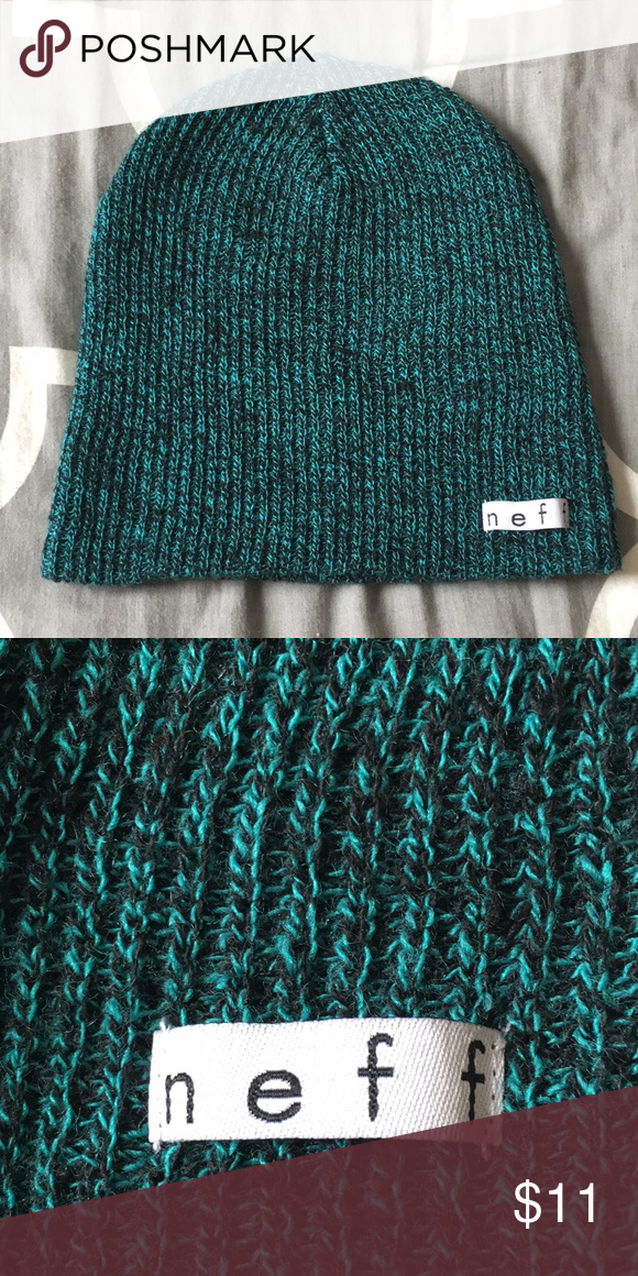 b269137e22a85 Neff Beanie Green and black Neff knit beanie. NWOT. Very open to offers!  Neff Accessories Hats