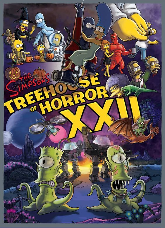 The Simpsons Treehouse Of Horror Xxii Simpsons Treehouse Of Horror The Simpsons The Simpsons Movie
