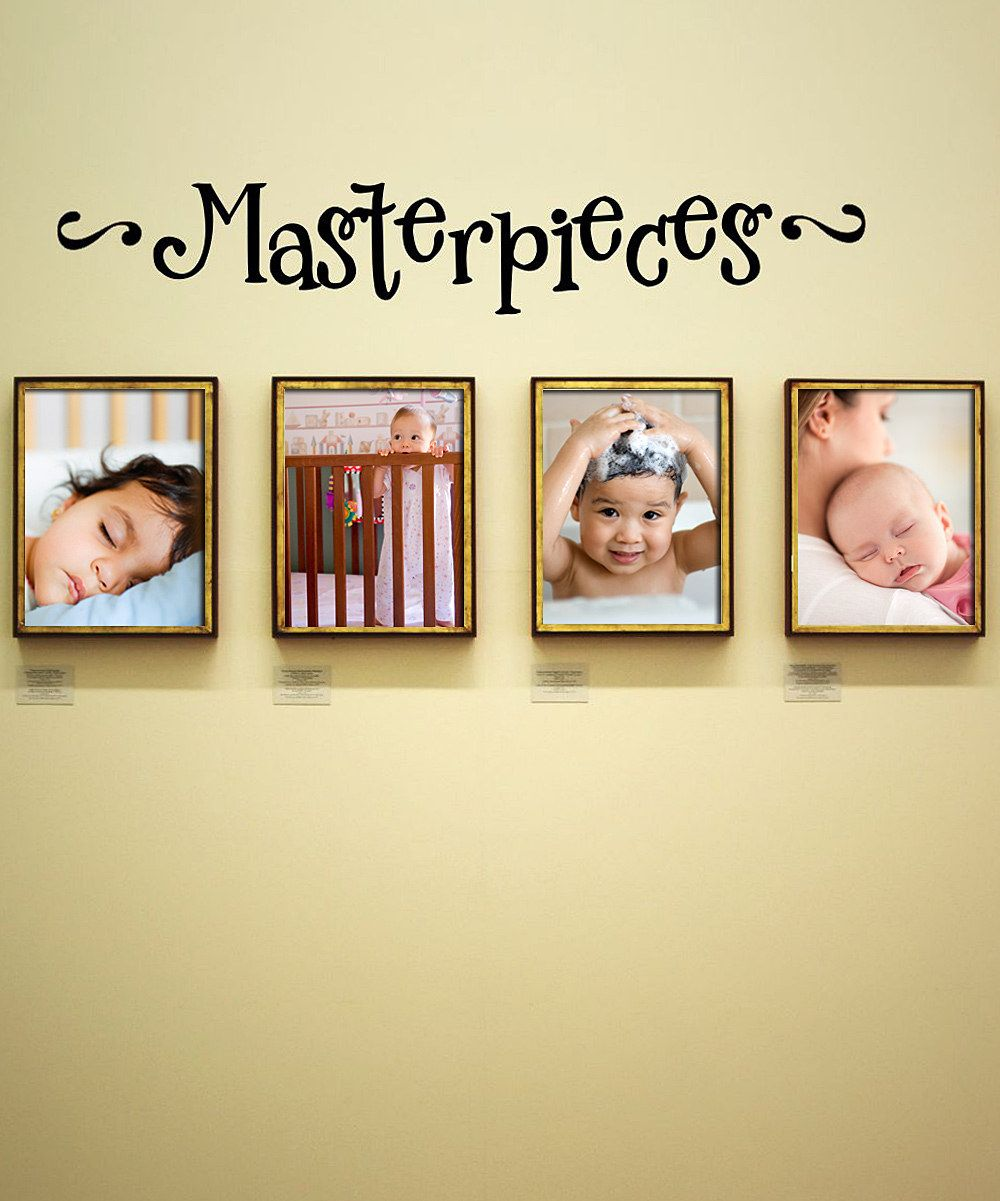 Black \'Masterpieces\' Wall Quote Bought this to Display the kids ...