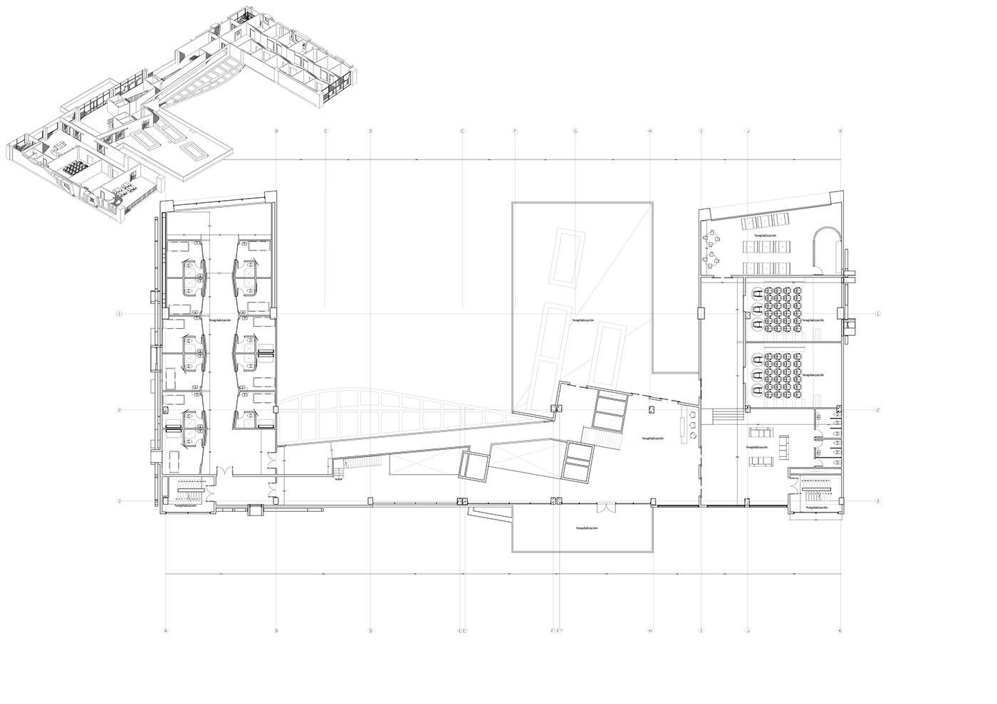 Diseño 8; Arquitectura Hospitalaria on Behance Hospital