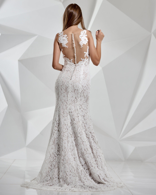 Lace wedding dress open back mermaid  Mermaid wedding dressWedding dress with trainOpen Back Wedding