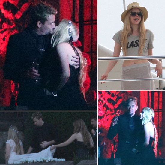 Avril Lavigne Wedding Gown: Avril Lavigne Marries Chad Kroeger In A Black Wedding