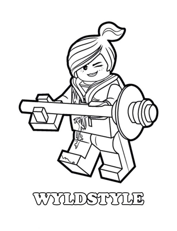 coloring page Lego Movie Lego Movie colored pencil Pinterest