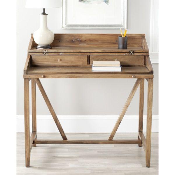 Safavieh Wyatt Oak Pull Out Writing Desk   Overstock™ Shopping   Great  Deals On