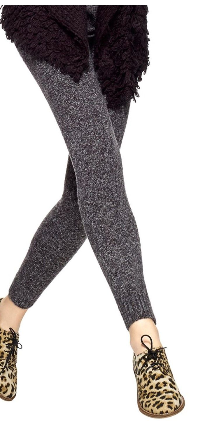 Add some texture to tunic with HUE® Tweed Sweater Leggings