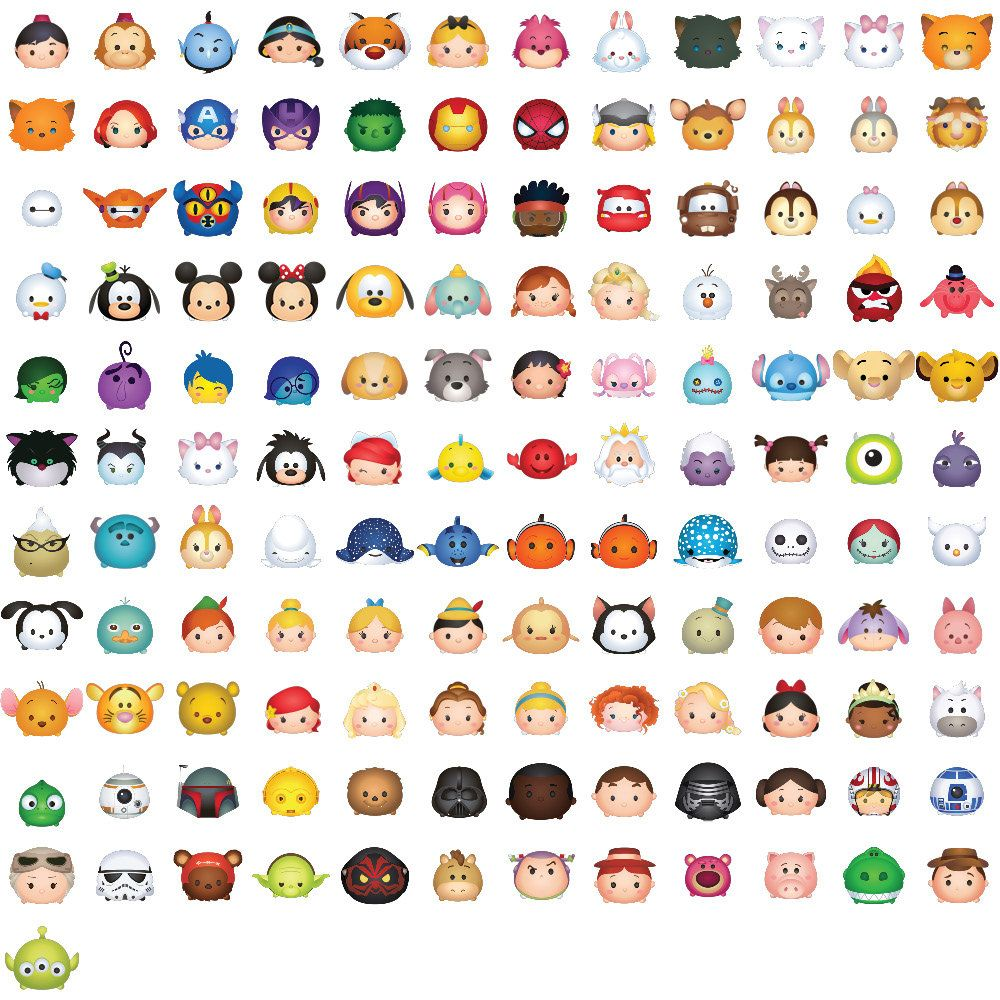 This is a picture of Zany Tsum Tsum Characters Names