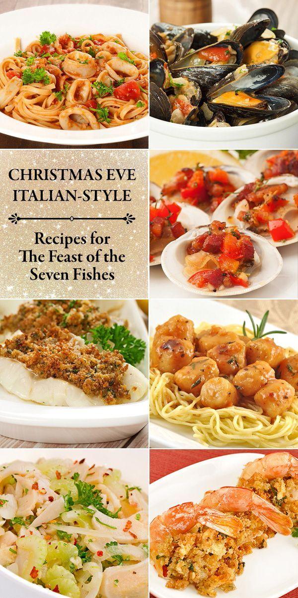 Seafood Christmas Food Ideas : seafood, christmas, ideas, Holiday, Menu:, Italian, Christmas, Dinner, MyGourmetConnection, Dinner,, Seafood