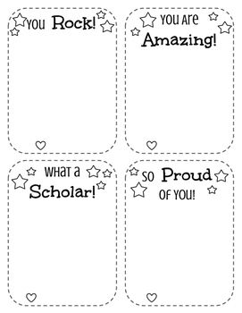 Free Positive Notes Home Template Teacher Note Pa Communication Included Is Another Page With 8 Mini Ones