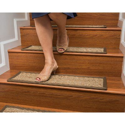 Best Rosecliff Heights Soperton Seagrass Carpet Stair Tread 400 x 300