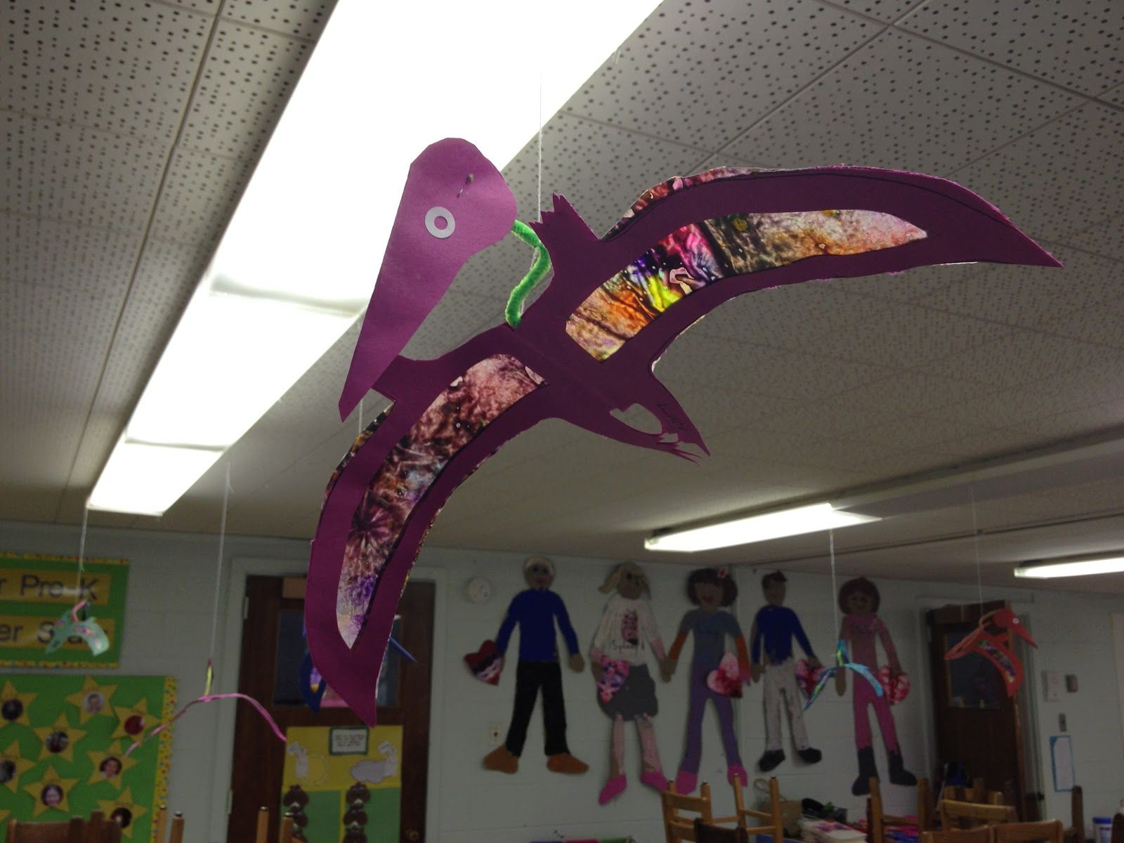 Classroom Job Ideas For Kindergarten ~ Pterodactyl craft how fun is this for a class