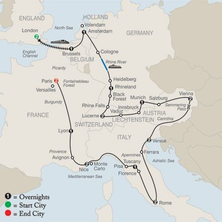 Best Routes For Europe Traveling