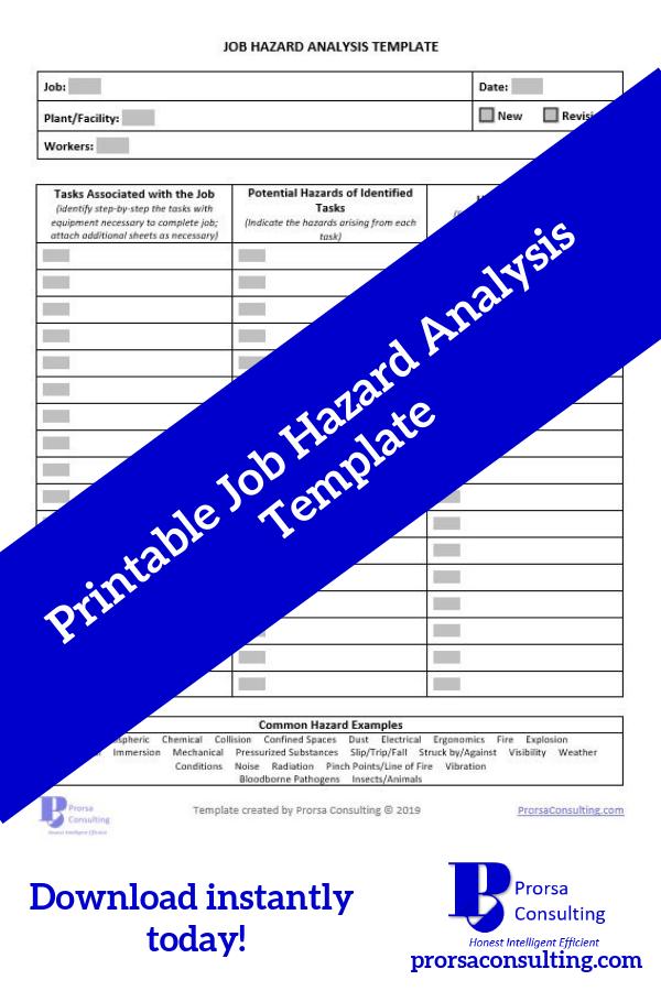Job Hazard Analysis Template Hazard analysis, Task