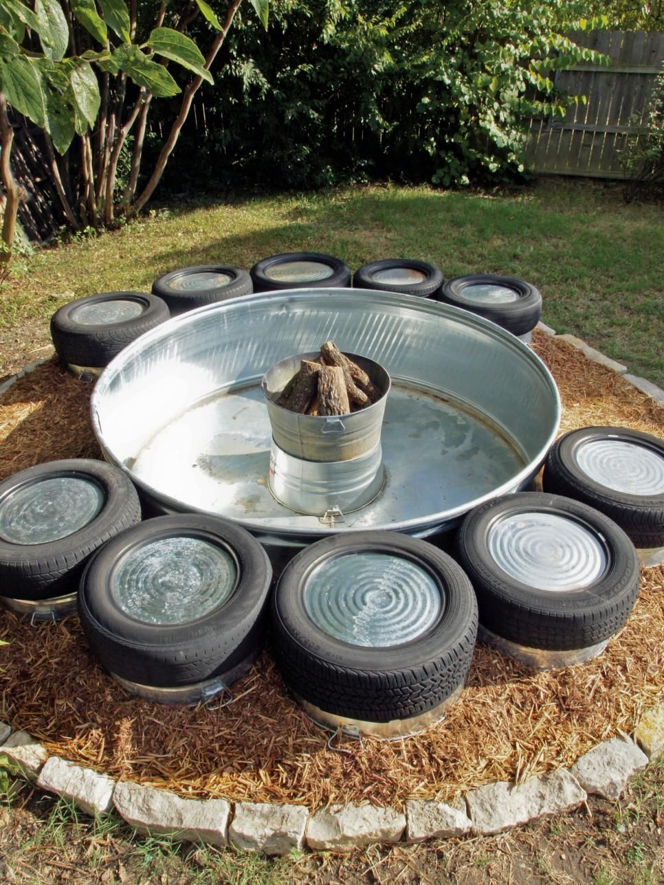 How To Build A Fire Pit Industrial Style Hgtv And Bench