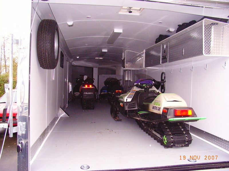 Enclosed Bed Google Search: Enclosed Snowmobile Trailer Cabinets