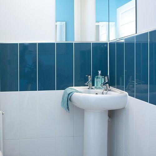 Bathroom Tiles Johnson vivid gloss blue wall tile | johnson bathroom tiles | non shit