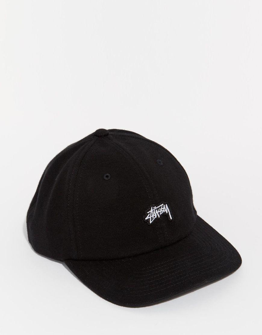 fb6176fcfb0111 Stussy Stock Logo Pique Snapback Cap | Style | Stussy, Snapback cap ...