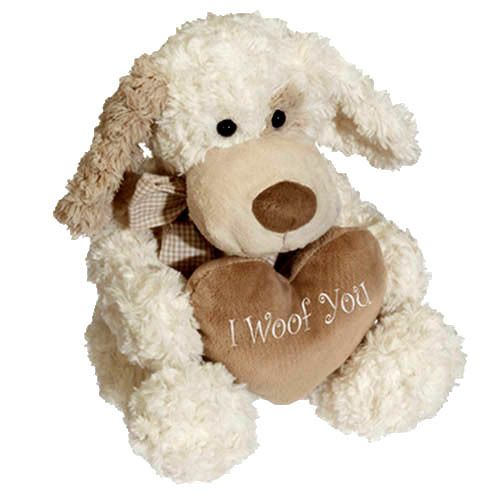 Davey Dog I Woof You Valentinesgift Plushdog Senateddybear