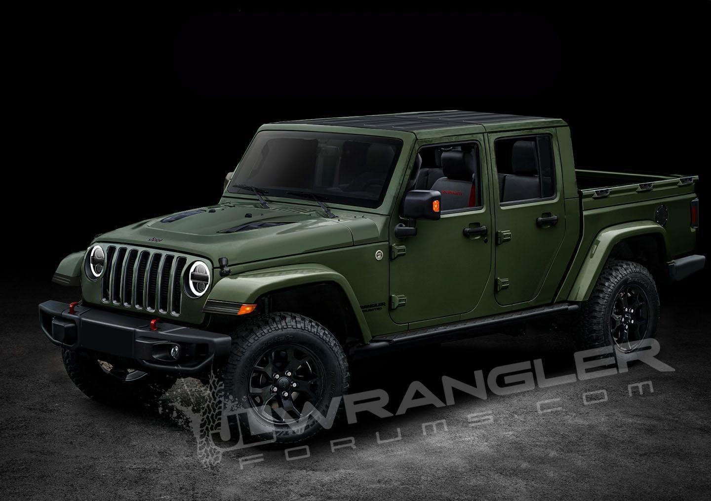 2019 Jeep Comanche 2019 Jeep Wrangler Pickup Rendered Jeep