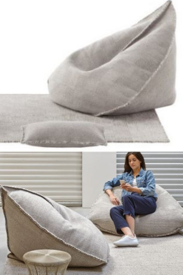 Sensational Natural Fabric Light Grey Bean Bag Beanbag Sofa Bean Bag Ibusinesslaw Wood Chair Design Ideas Ibusinesslaworg