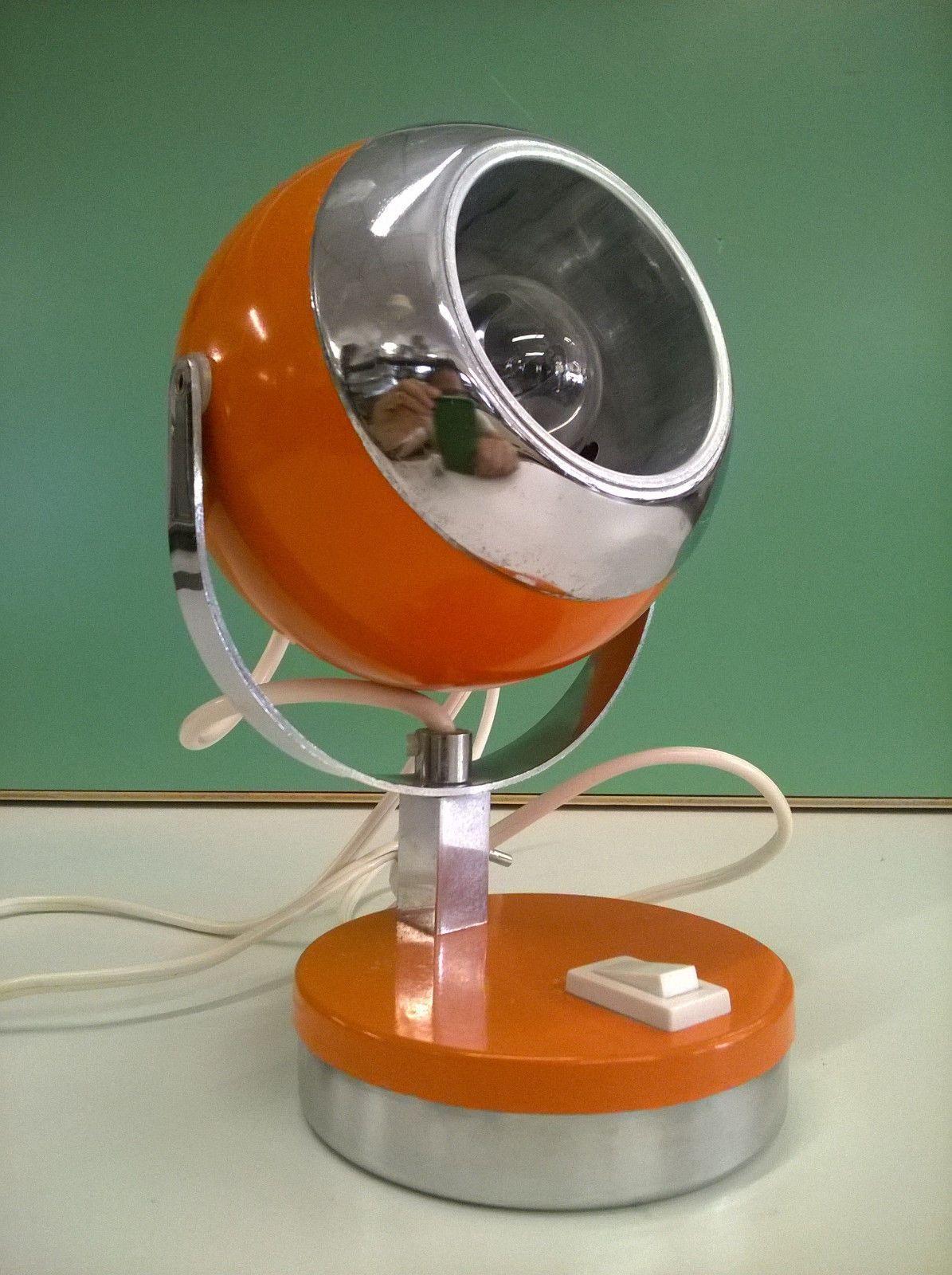 Lampada Da Tavolo Vintage Arancio Design Space Age Eyeball Anni 70 For Sale Eur 49 90 See Photos Mone Lampade Da Tavolo Vintage Lampade Da Tavolo Lampade