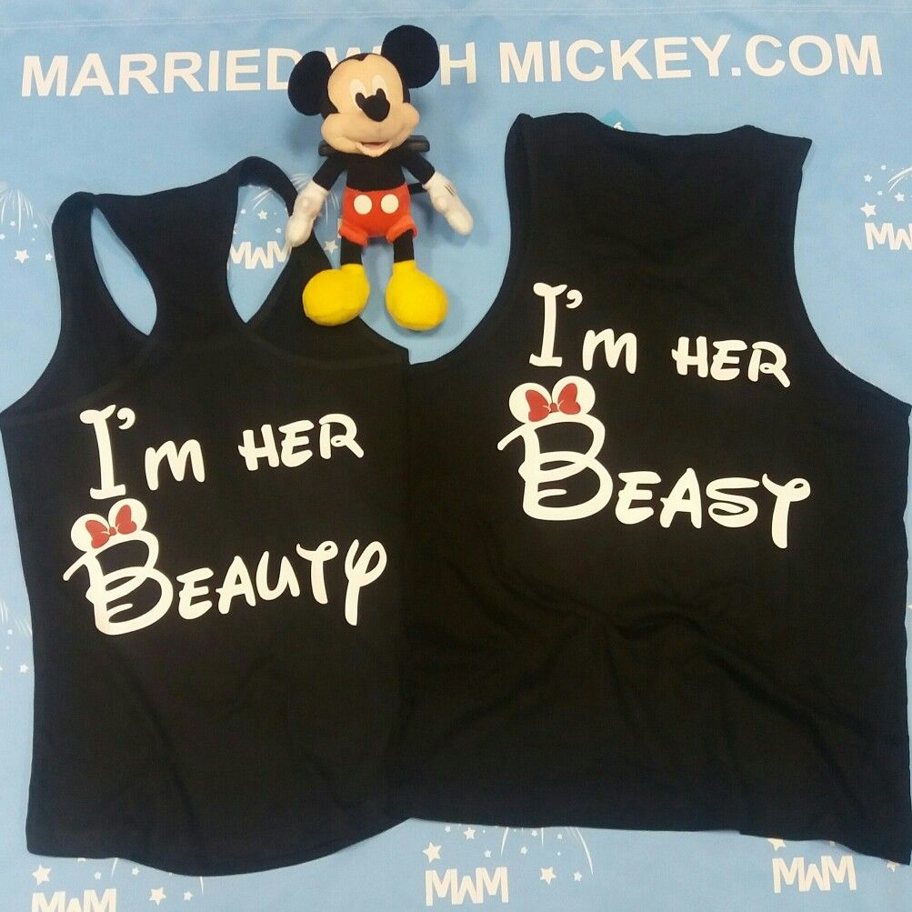 9e89d10bbc LGBT Lesbian I'm Her Beauty I'm Her Beast Matching Couple Tank Tops, Married  With Mickey