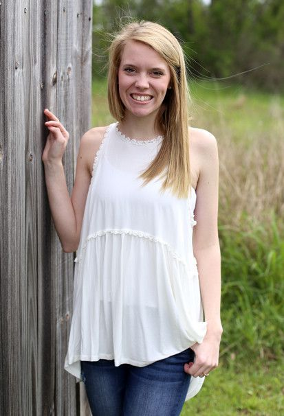 Baby Doll Top: Ivory