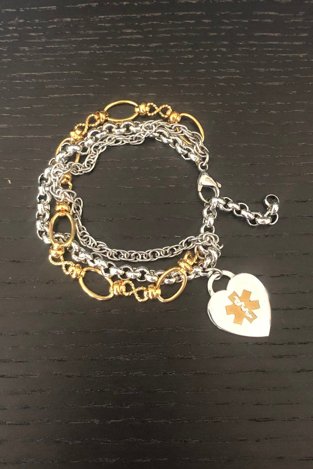 Medical Charm Bracelet May Be Worn As