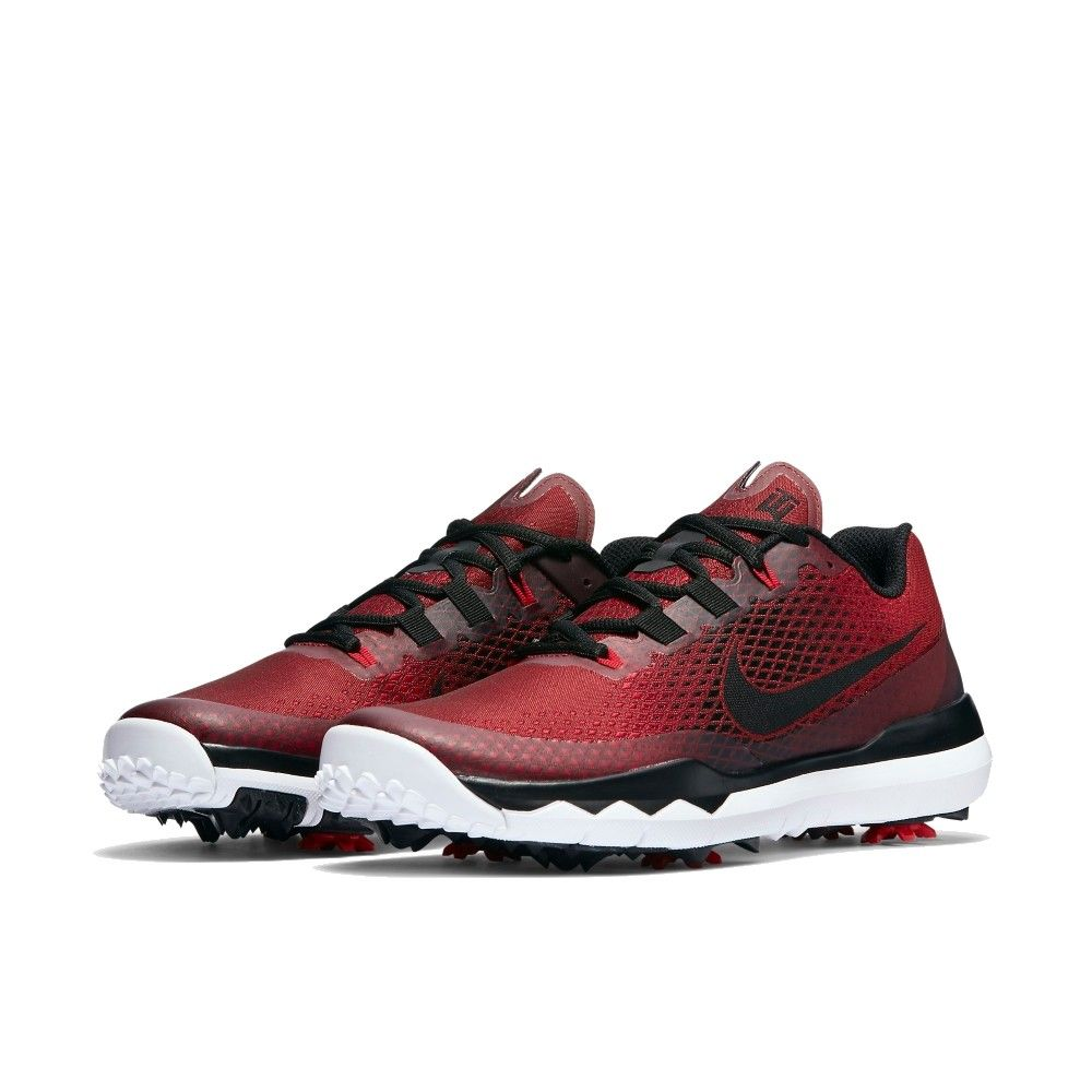 Nike Men's TW15 Golf Shoes - University Red/Black/Gym Red/White -