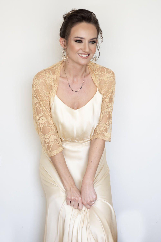 Gold shawl, bridesmaid shawl, gold wedding bolero, mother of the ...