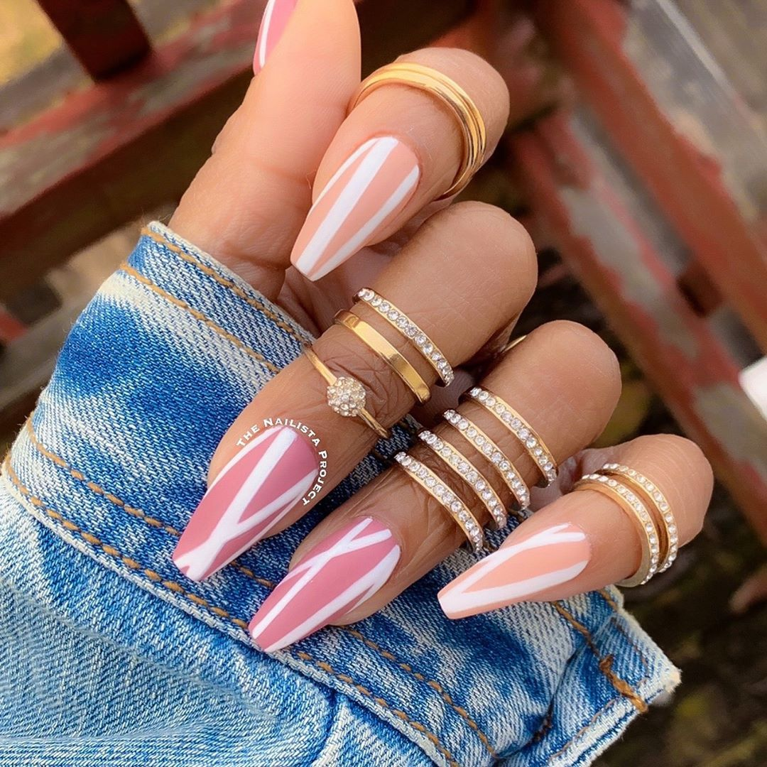 All Lined Up With Kiaraskynails Gel Polish In Naughty List And Mauve A Lil Closer Coffin Nails Designs Acrylic Nails Coffin Nail Design Video