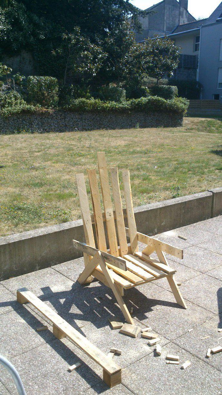 Mon petit fauteuil de jardin my little garden pallet armchair dyi muebles reciclados - My little jardin ...