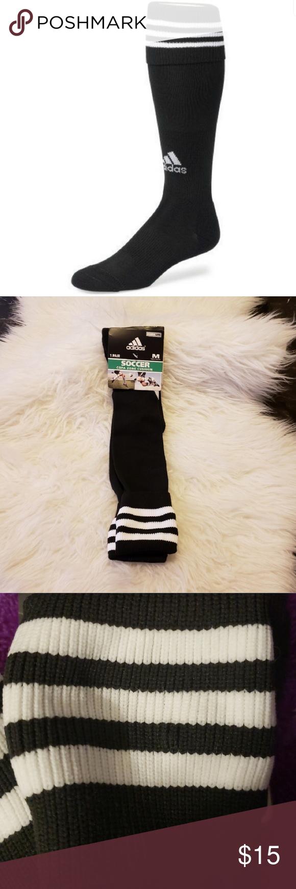 NWT Unisex Adidas Copa Zone Cushion Soccer Socks Shoe Size