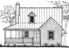 Cabin Plan and Blueprint Lakeside Cabin Plan Download Package