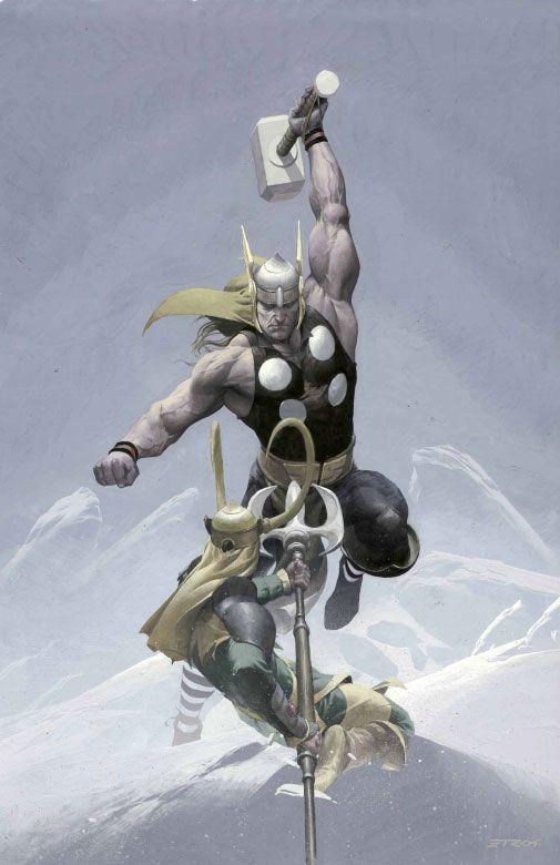 Thor vs. Loki - Esad Ribic